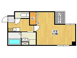 鶴橋末広ビル2[4階]の間取り