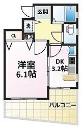 エステムコート新大阪IIIステーションプラザ[11階]の間取り