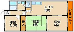兵庫県明石市貴崎5丁目の賃貸マンションの間取り