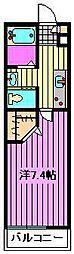 セレコーポ宮原[2階]の間取り
