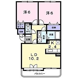 北海道札幌市豊平区月寒東三条7丁目の賃貸マンションの間取り