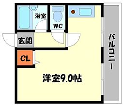 Kマンション[3階]の間取り