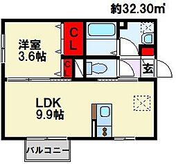 D-HOUSE A棟[2階]の間取り