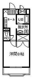 サンライズ山田[201号室]の間取り