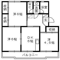 スヤマコーポI[302号室]の間取り