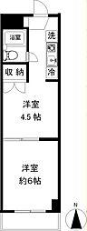 ライフハウスナカムラ[306号室]の間取り