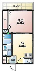 ドゥ・ミル・アン東大阪[408号室号室]の間取り