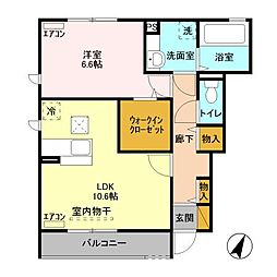 レジデンスMIYABI A棟[1階]の間取り