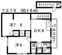 田中ハイツ[201号室号室]の間取り
