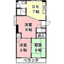 三浦シティーハイツ[4階]の間取り