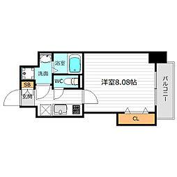 Osaka Metro谷町線 千林大宮駅 徒歩5分の賃貸マンション 2階1Kの間取り