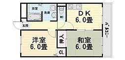 大阪府堺市西区鳳北町3丁の賃貸アパートの間取り