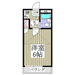 埼玉県さいたま市中央区本町東5丁目の賃貸アパートの間取り