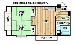 足立インターハイツ[2階]の間取り