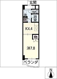ESTATE YAMADA[4階]の間取り