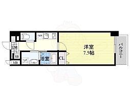 アーバンパーク梅田ウエスト 11階1Kの間取り