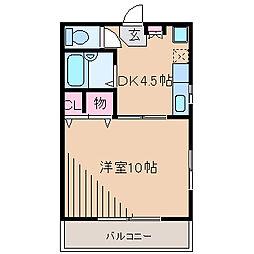 マタヨシハイツ[2階]の間取り