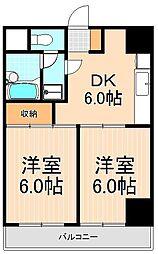 ウエストハイツ浅草[6階]の間取り