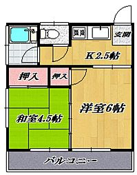 第二名古屋ハウス[207号室号室]の間取り