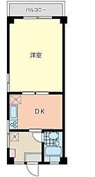 アパルクス横浜[2F号室]の間取り