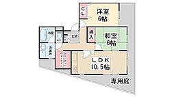 ロイヤル・ハウス萩原[1-A号室]の間取り