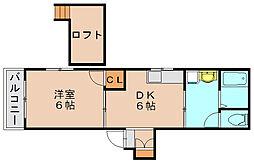 コーポM&M[1階]の間取り
