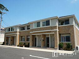 愛知県岡崎市上地町字下屋敷の賃貸アパートの外観