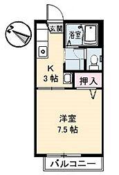 メゾンS&T[2階]の間取り