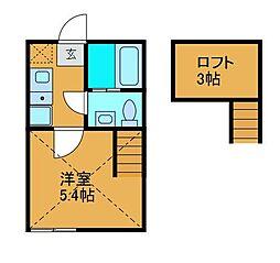 神奈川県相模原市南区相模大野2の賃貸アパートの間取り