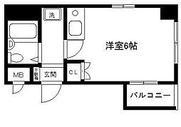 ロイヤル横浜[405号室]の間取り
