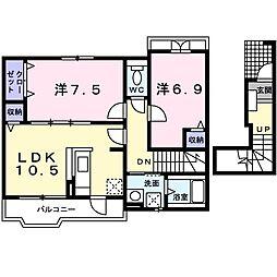 ユキ・シンクラ[0203号室]の間取り