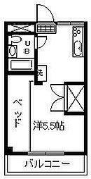神宮シティハイツS[402号室]の間取り