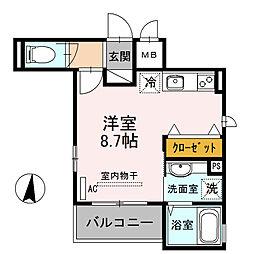 兵庫県神戸市東灘区本山北町3丁目の賃貸アパートの間取り