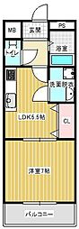 兵庫県神戸市西区水谷1丁目の賃貸マンションの間取り