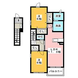 メゾン  オーブ[2階]の間取り