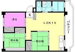 仙波マンション[1-B 号室号室]の間取り