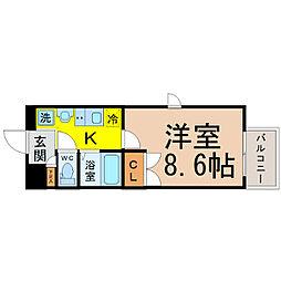 愛知県名古屋市千種区今池3の賃貸マンションの間取り