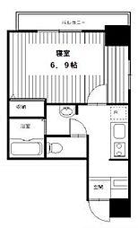 都営大江戸線 築地市場駅 徒歩10分の賃貸マンション 6階1Kの間取り