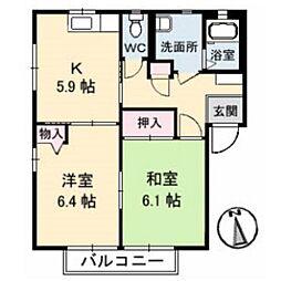 シャーメゾン侍町[101号室]の間取り
