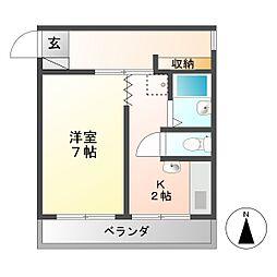 多恵第一ビル[2階]の間取り