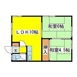 北海道札幌市東区北十六条東12丁目の賃貸アパートの間取り