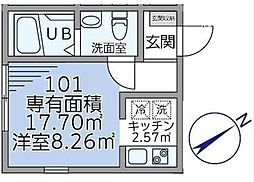 GATE LAGOON戸塚町新築アパート[1階]の間取り