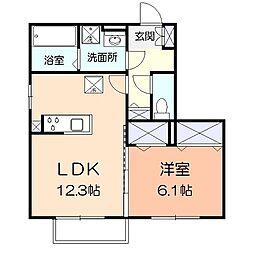 アメニティー小田原市酒匂アパート[103号室]の間取り