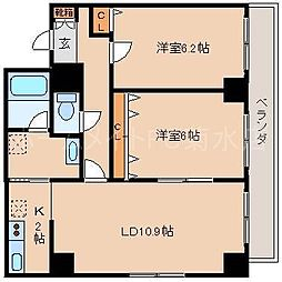 北海道札幌市白石区菊水二条2丁目の賃貸マンションの間取り