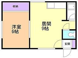 福寿荘 1階1LDKの間取り