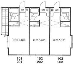 リバーグレイス[2階]の間取り