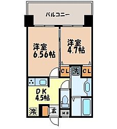 長崎県長崎市梅香崎町の賃貸マンションの間取り