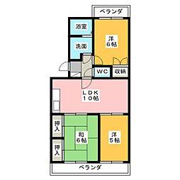 トワコート西焼津[3階]の間取り