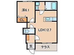 TN-Fukushima[1階]の間取り