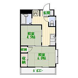 第12ウッディビル[2階]の間取り
